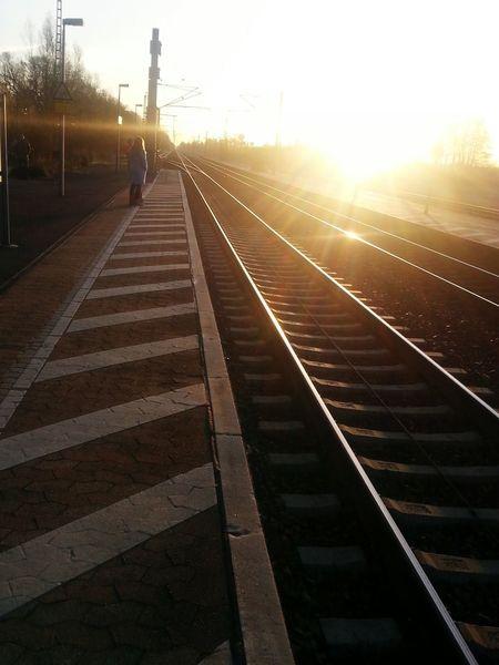 Sunset Railroad Track Morning Sun Moody
