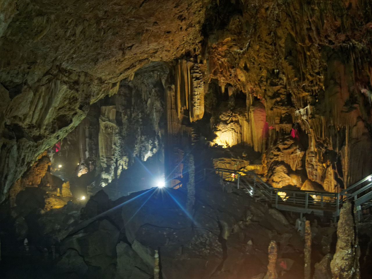 Lùng Khúy cave Beauty In Nature Cave Geology Illuminated Light Rays Lùng Khúy Cave Nature Travel Destinations
