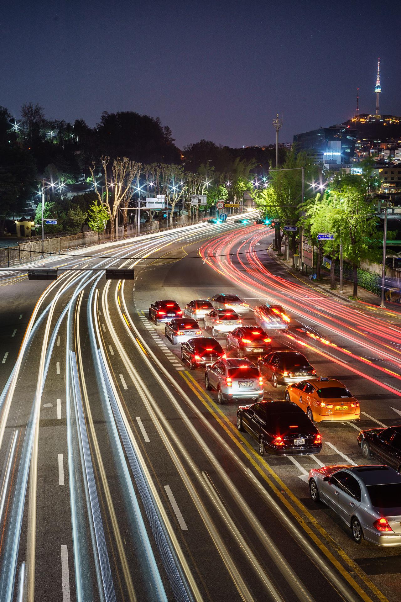 Beautiful stock photos of car, Car, High Angle View, Land Vehicle, Night