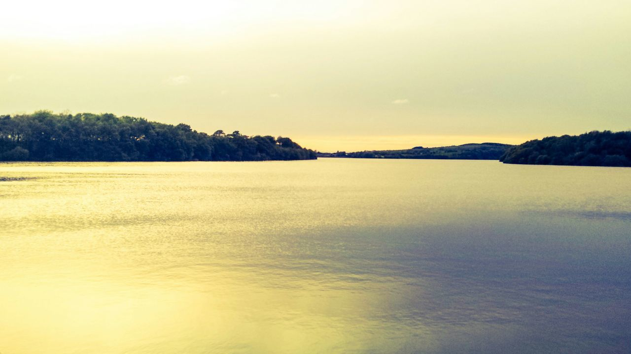 tranquility, tranquil scene, nature, scenics, beauty in nature, landscape, no people, water, sky, sea, outdoors, sunset, tree, day