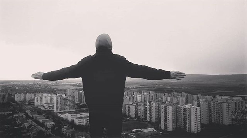 Over the world Trip Man Against City Citylife Cool Town Winner Devinska Devinskanovaves Blackandwhite Top Topoftheworld High Fly Littlebigtown Horizon Landscape Urbanism Buildings View Wide Scenery Slovakia Riodejaneiro