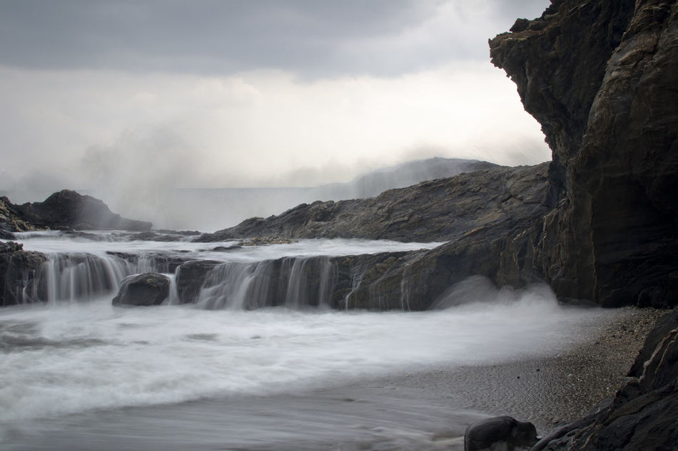 Beauty In Nature Cascadas De Agua Azul Day Long Exposure Mar Mountain Nature Sea Sedas Water Waterfall