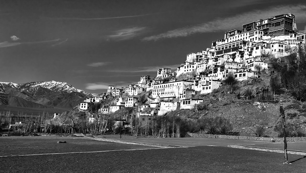 Thiksey Monastery Leh Kashmir Incredible India Building Exterior Architecture Travel Destinations Himalayas Travel Travel Photography Blackandwhite Black And White Collection  Blackandwhite Photography Natgeotravel Eyeemphoto Natgeo EyeEm Best Shots Indianphotography EyeEm Gallery EyeEm Masterclass Eyeem Market Buddhism Religious  Building