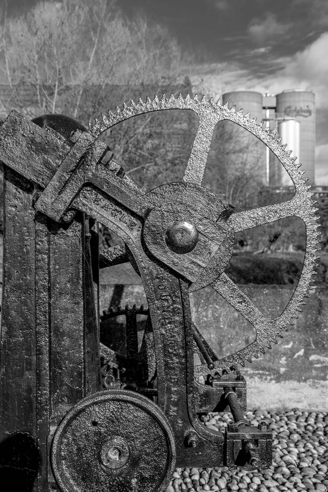 Cogs, Winch, Grand Union Canal, Northampton Arm Canal Grand Union Canal FUJIFILM X-T2 Black And White Monochrome Monochrome Photography Northampton Industrial Landscapes Industrial Heritage Winch