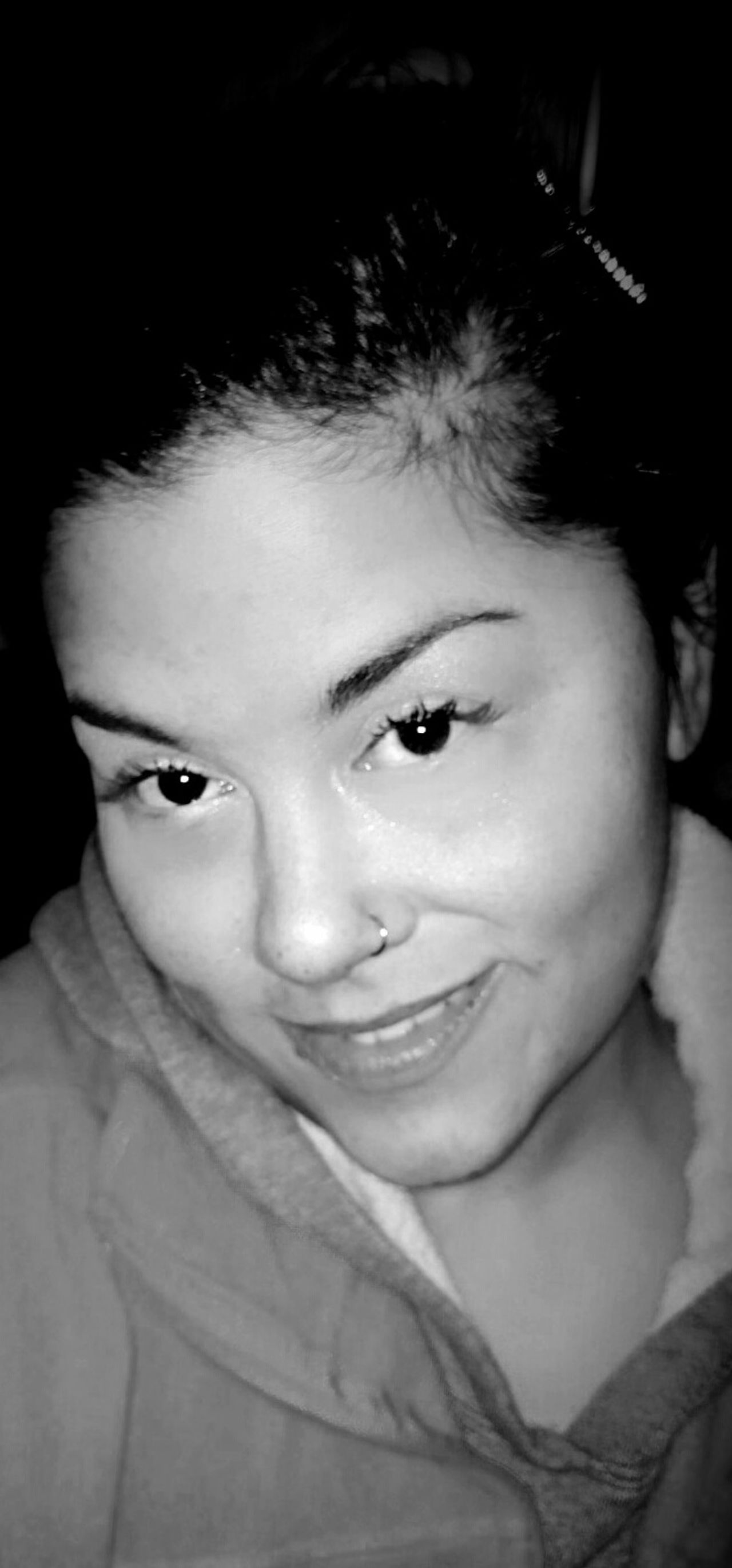 Taking Photos Cheese! Feminine  Contrast Self Portrait Black And White Photography