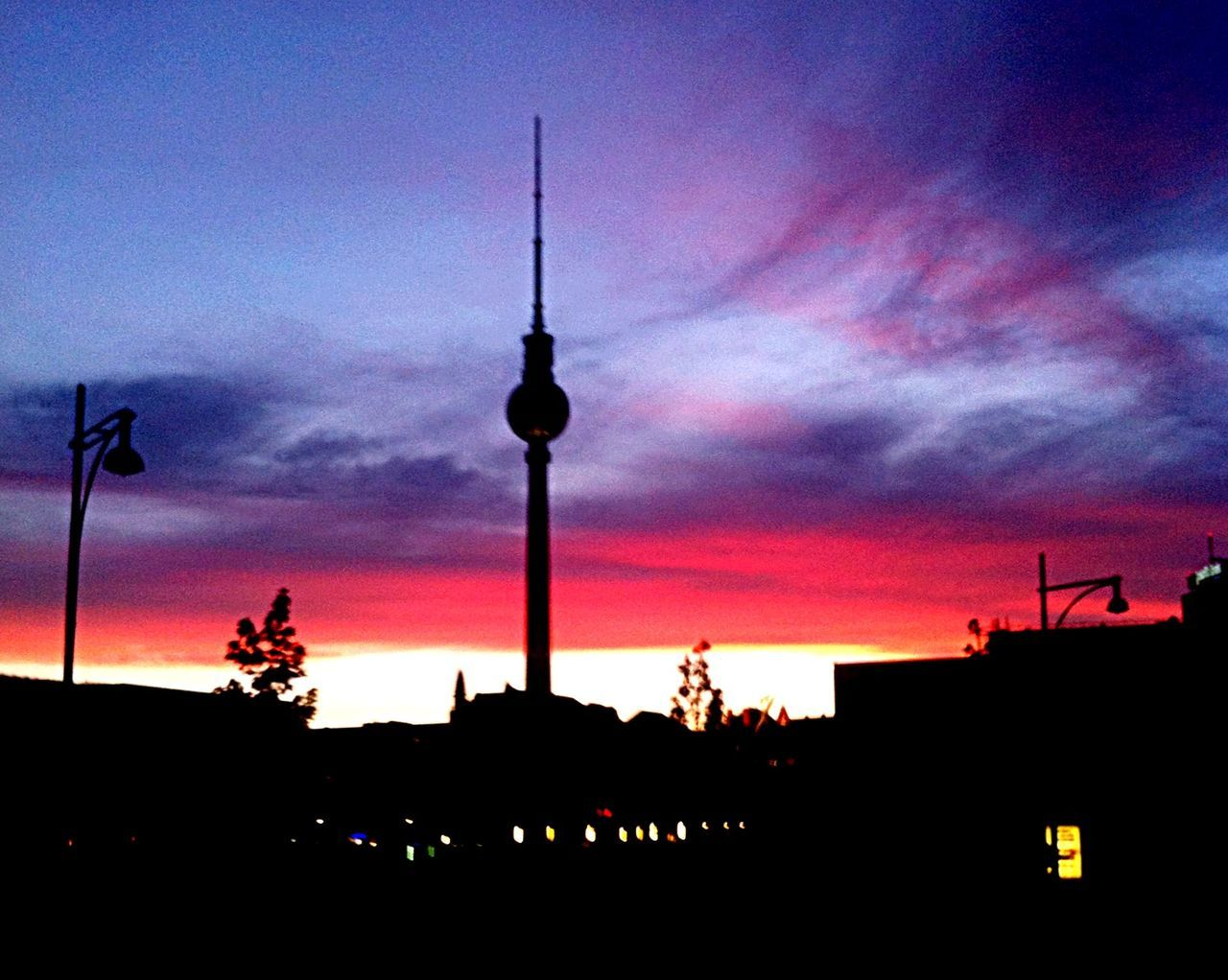 Color Vibes My Fuckin Berlin Fehrnsehturm Sunset Fire In The Sky Color Explosion The Sky Over Berlin Blue Feelings