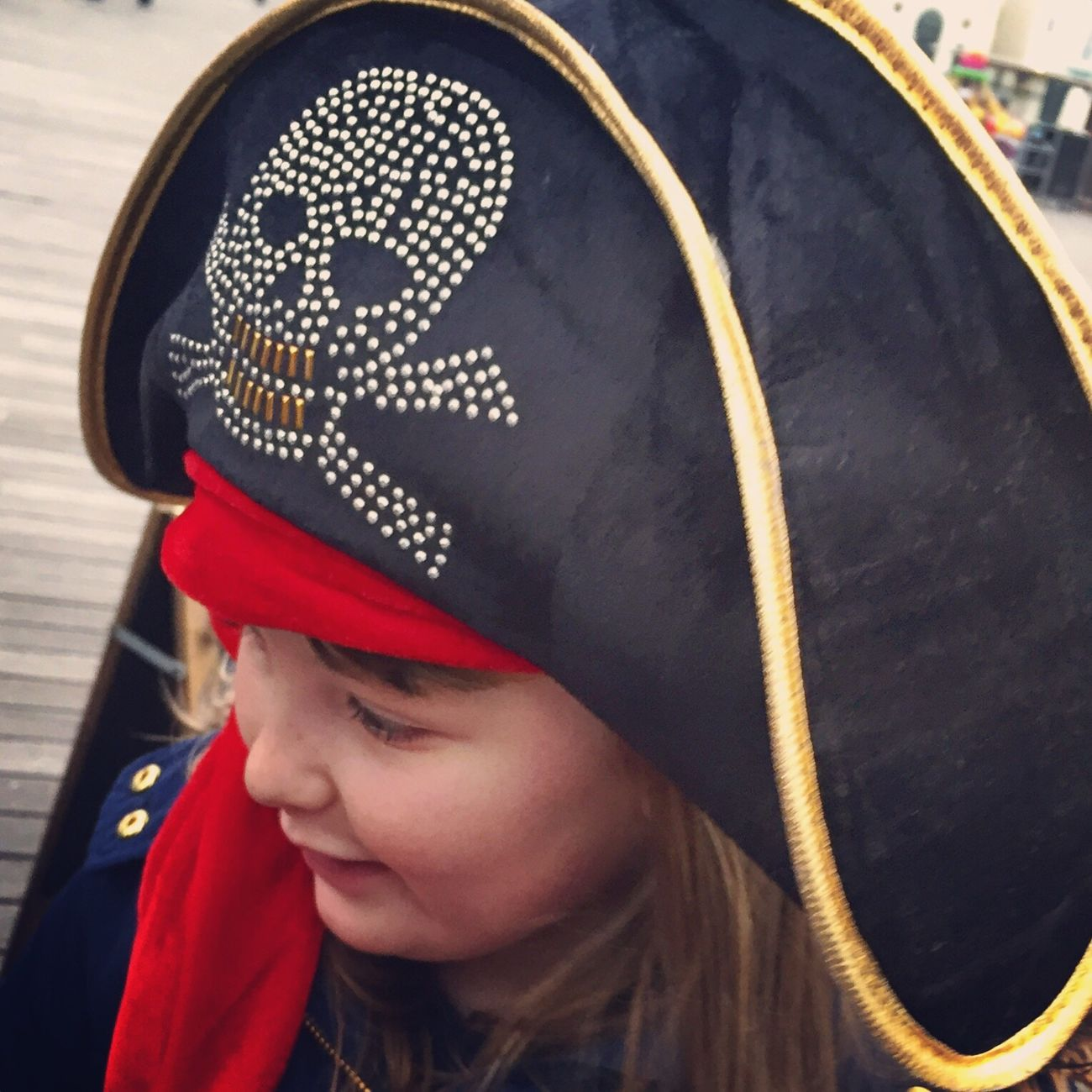 My little pirate captain Real People One Person Childhood Close-up Headshot Smiling Day Pier Pirate Love