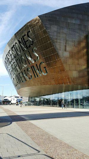 Cardiff Cardiff Bay Armadillo Millennium Centre Theatre Modern Architecture Piazza Tourist Attraction  Wales Tourism In Wales