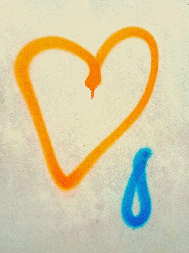 Heart Symbol Orange Color Textures And Surfaces Graffiti Streetphotography Spraypaint Graphic Neon Color Street Art Heartbreak Teardrop Aerosol