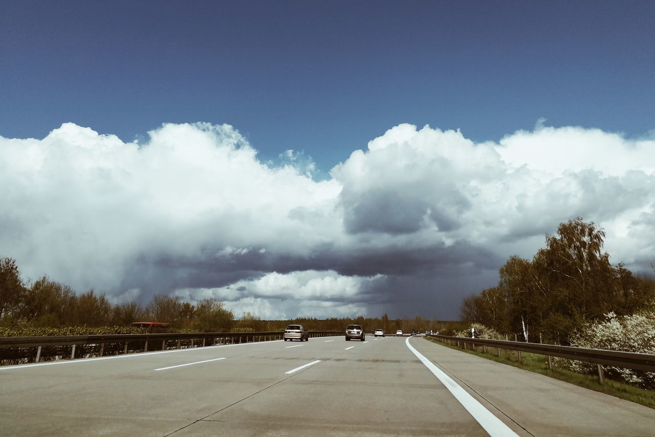 Highway to rain... Outdoors Day Spring Springtime No People Vscogrid VSCO Nature Details Of Nature Sky Mode Of Transport Travel Highway Easter Skylight Clouds And Sky