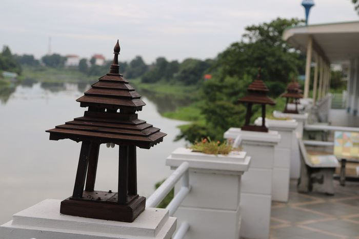 Focus On Foreground Plant Outdoors Sky Stupa No People Formal Garden Nature Cloud - Sky River