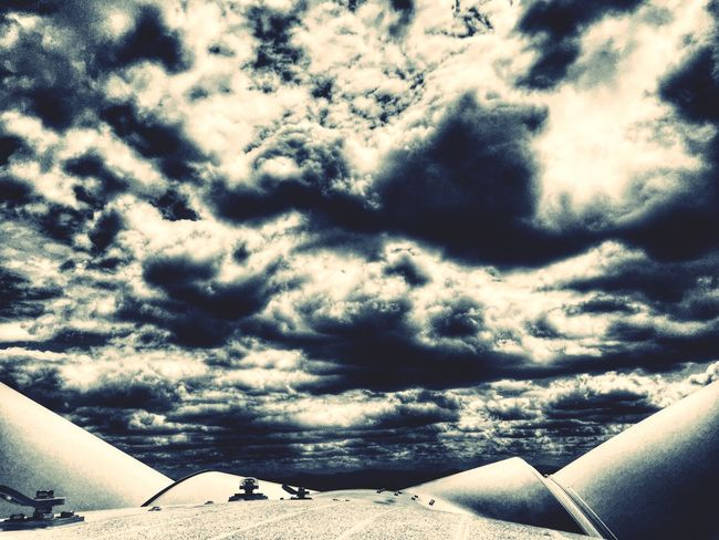 On top of a Wind Turbine Blackandwhite Clouds And Sky Cloudporn Clean Energy Renewable Energy Skyporn
