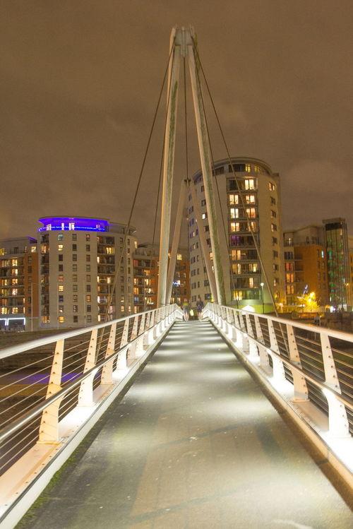 Leeds Clarence Docks Cityscapes Bridge