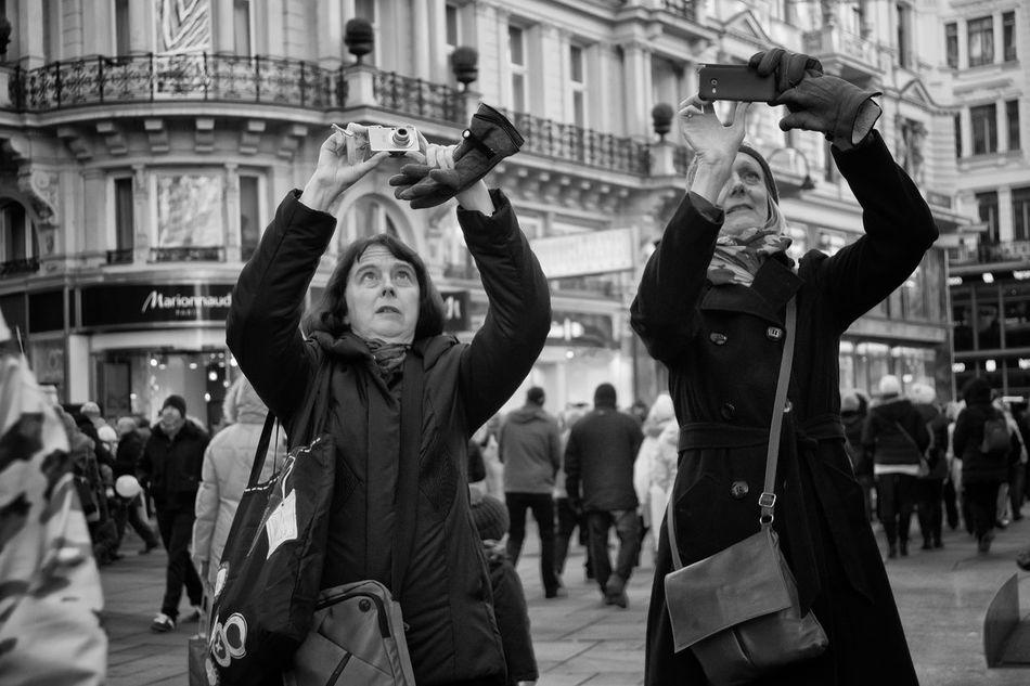 "Black And White Street Two Ladies Vienna ""The Streetphotographer - 20I6 EyeEm Awards"""