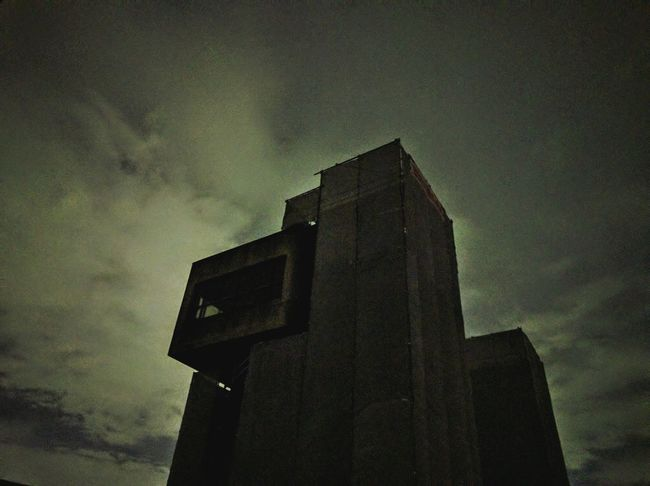 Concrete Building Water Gate Silhouette_collection Night View Night Jog Night Photography Night Sky