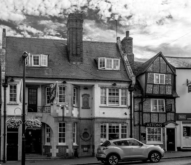 Former Conservative and Unionist Club, St. John's Street, Newport Pagnell, Buckinghamshire buckinghamshire Architecture Newport Pagnell Buckinghamshire Monochrome Black And White Consevative