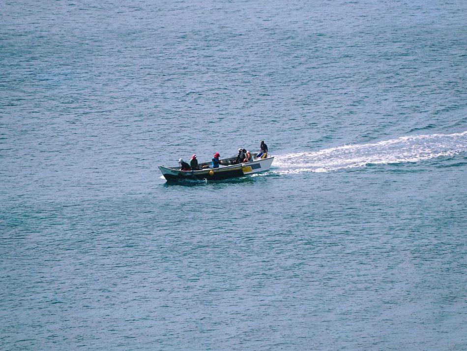 Scenic Sea Ocean Fishermen Fishing Fishing Boat Mode Of Transport Transportation Adventure
