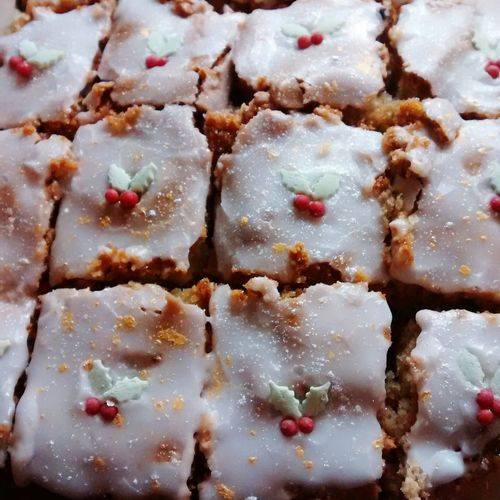 Delicious! Cakes for colleagues Christmas Cake Baking Bake Off Tray Bakes Holly Sparkle Cake Christmas Cakes Tray Bake Sweet Sweet Treats  Christmas Baking Yummy Sponge Sparkly Edible Glitter Christmas Cookies
