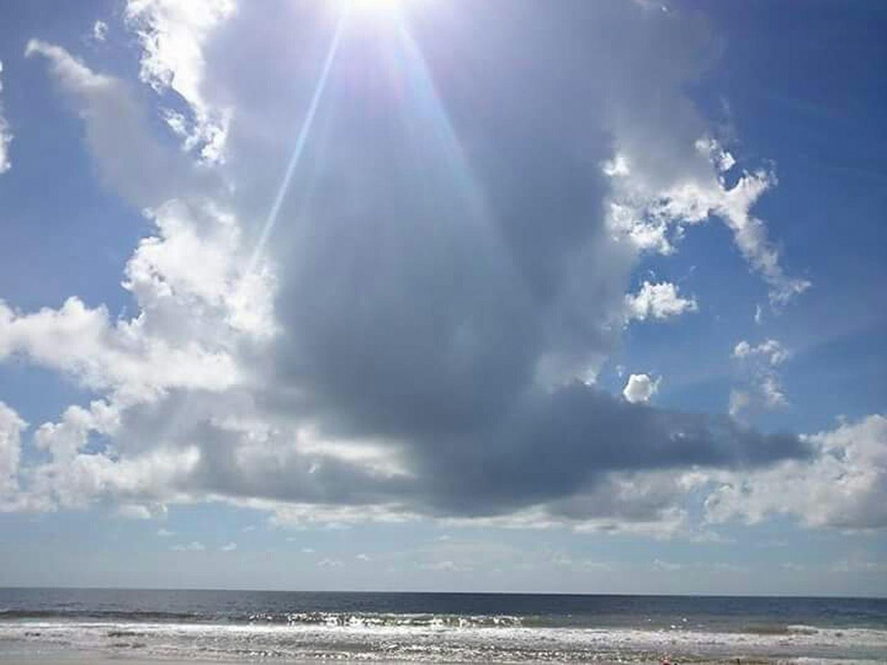 sky, sea, horizon over water, cloud - sky, sunlight, tranquility, tranquil scene, sunbeam, scenics, nature, beauty in nature, day, outdoors, idyllic, water, sun, no people, beach