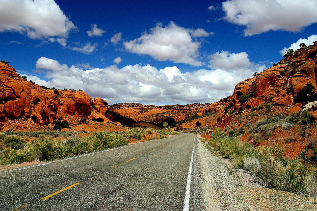 Blue Sky Clouds Domestic Tourism Dreaming Mountain Outdoors Red Rocks  Tourism Tranquility Travel Utah