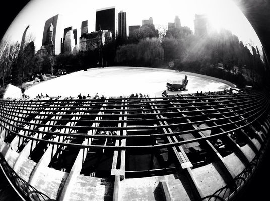 blackandwhite at Wollman Rink,Central Park by Waveform