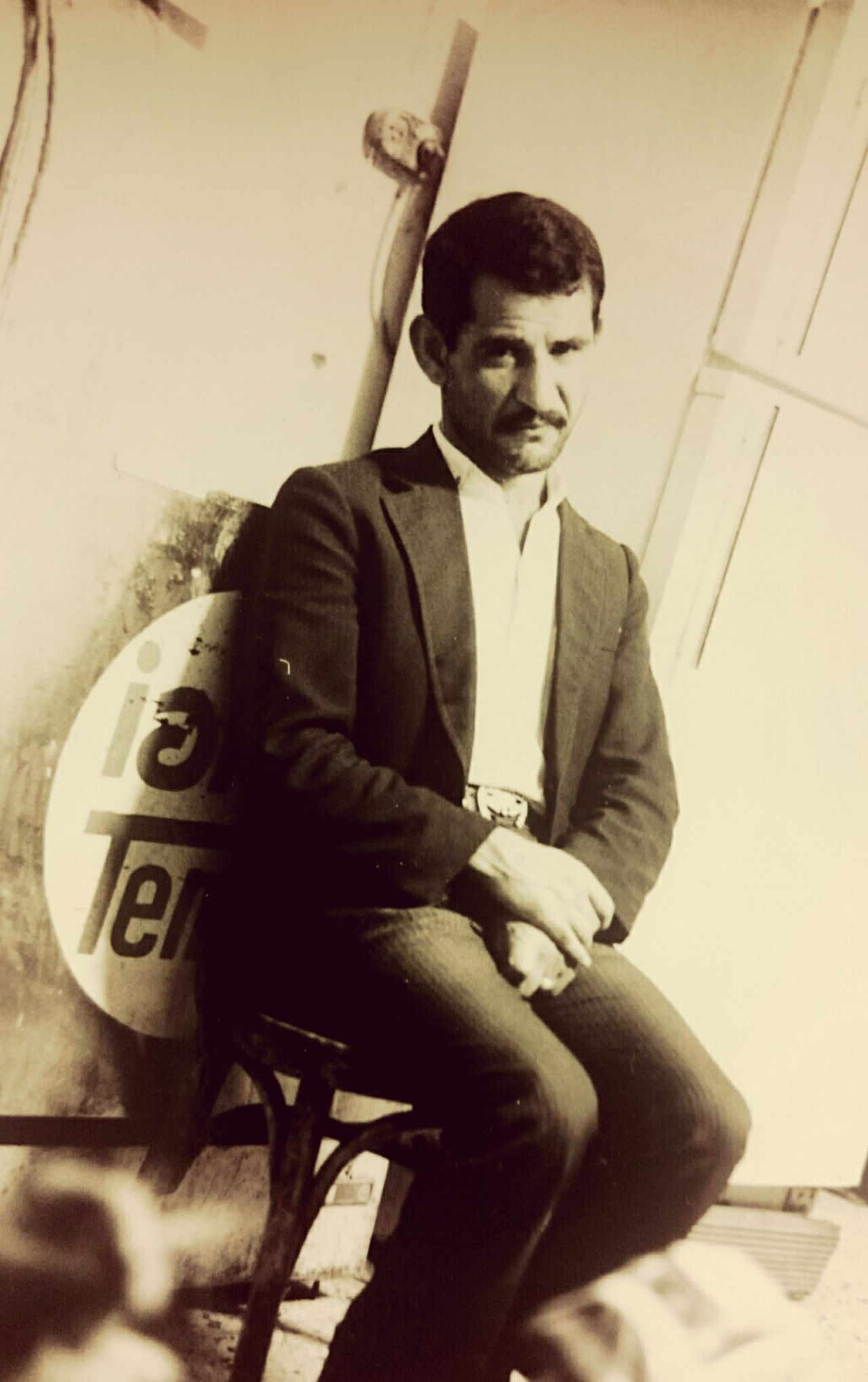 Human Portrait Body Language Desperate Unhappy Sitting Chair Black & White Jerusalem Old Pic  My First Published Subtile Conceptual