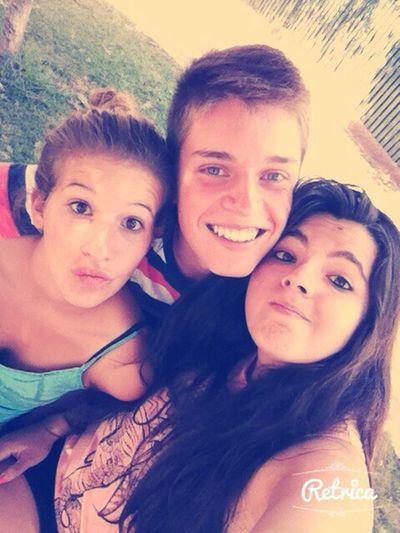 Con los amigos