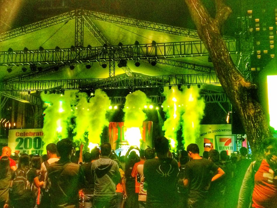 Let the party begin...🕺🏼 Lifestyles Celebration Crowd Green Color Large Group Of People Night Men People Tree Eyeem Philippines EyeEm Best Shots IPhoneography Flame