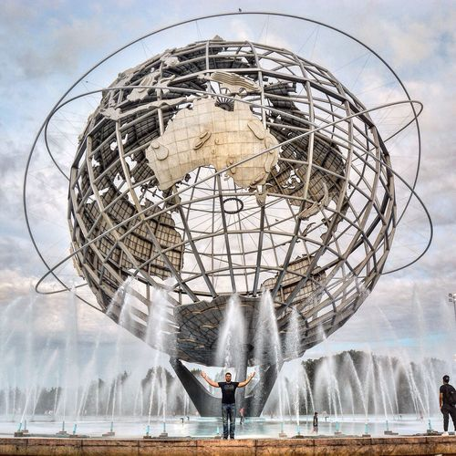 Today's Hot Look ThatsMe Flushing Meadow Park Park Metalsculpture Earth Unisphere NYC Photography NYC New York City