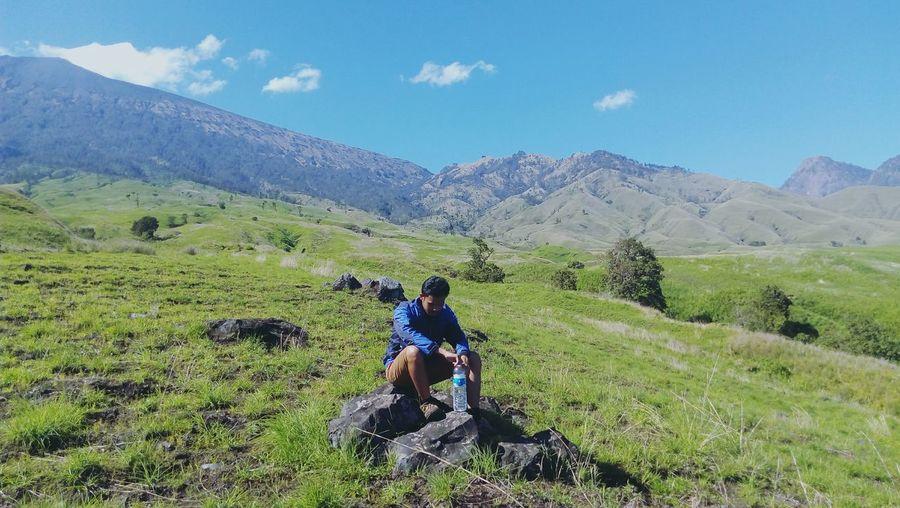 Mountain Range Beauty In Nature Landscape Hiking Mountain Nature Eco Tourism Adventure Rinjani National Park Rinjani