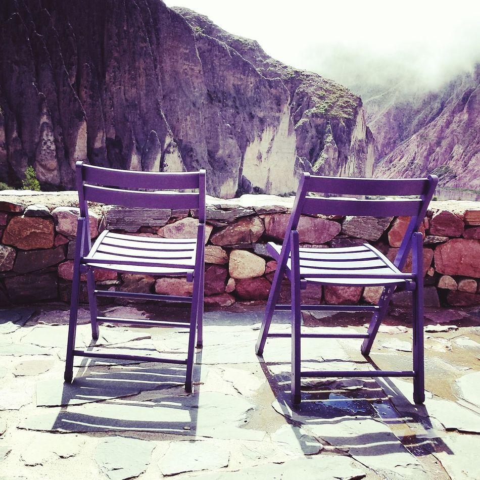 Iruya Argentina Photography Empty Chairs Mountains Los Andes