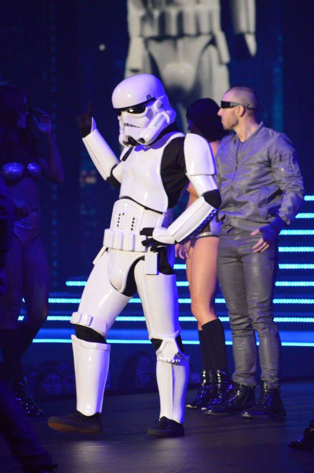 NEC Clothes Show Live Star Wars Stormtrooper Dancing Fashion