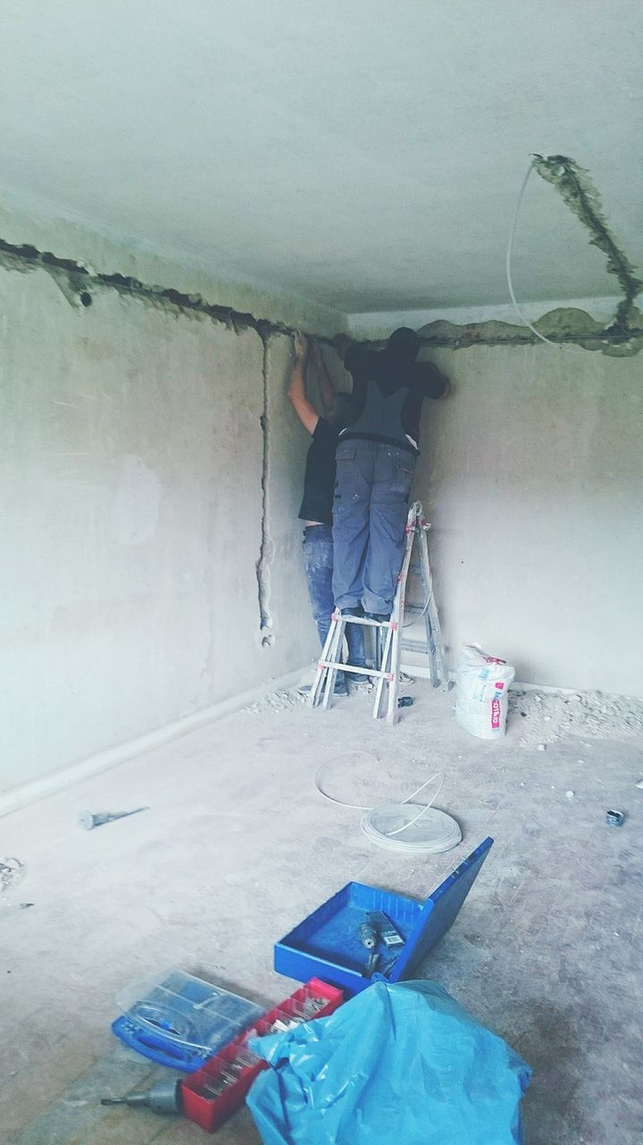Home Improvement DIY Renovation Paint Roller Paintbrush Paint Can Working Indoors  Home Interior Occupation Sweeping Manual Worker Work Tool Business Finance And Industry Construction Site One Person Repairing Adult People Standing