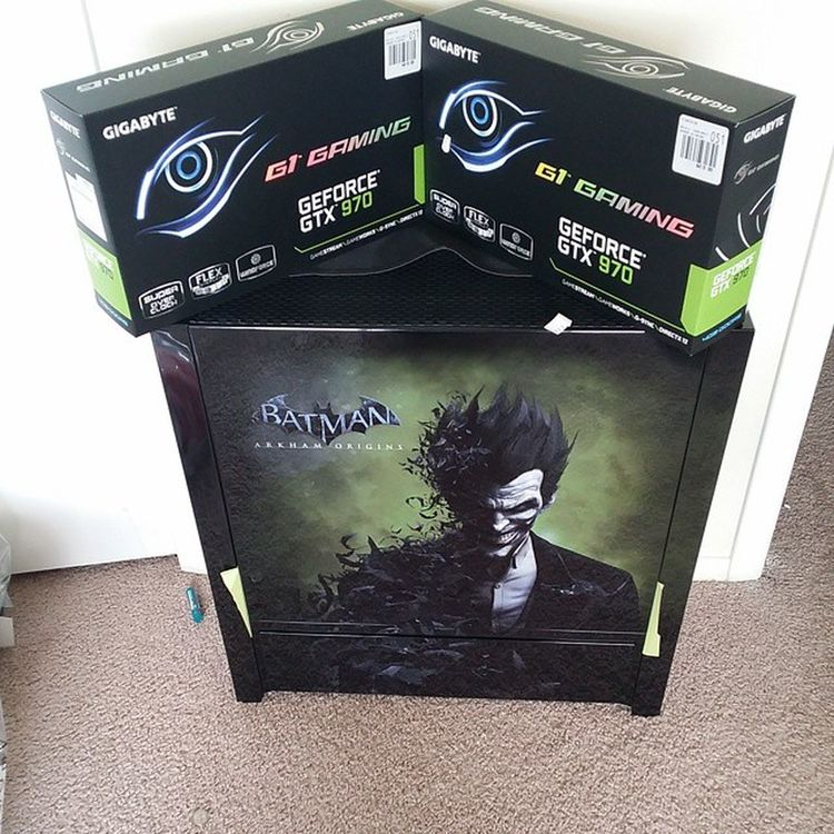 i've decided to keep this for myself. i'm just debating what motherboard/processor/ram to go in it I have another build with a fx8360 overclocked to 4.6 watercooled with a corsair h105 kit and amd radeon performance 16gb ddr3-1866 ram but i was hoping to sell that with the gtx 700 that's with it for 800 bucks..... decisions.....suggestions? Gamers Gaming Nvidia Gtx970 sli gtx intel amd westerndigital samsungevo evo samsung ssd solidstatedrive gigabyte i7 fx8350
