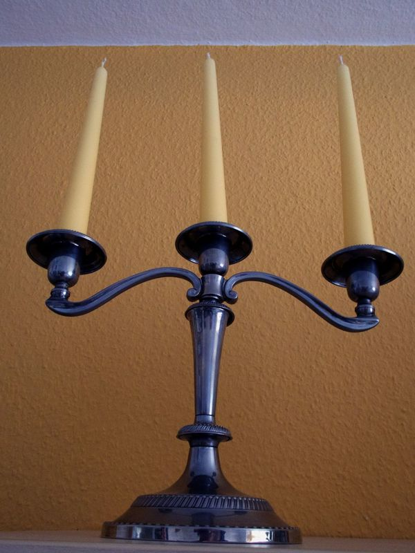 Candlesticks Close-up Illumination Indoors  No People Three Candles Trio Wax Candles