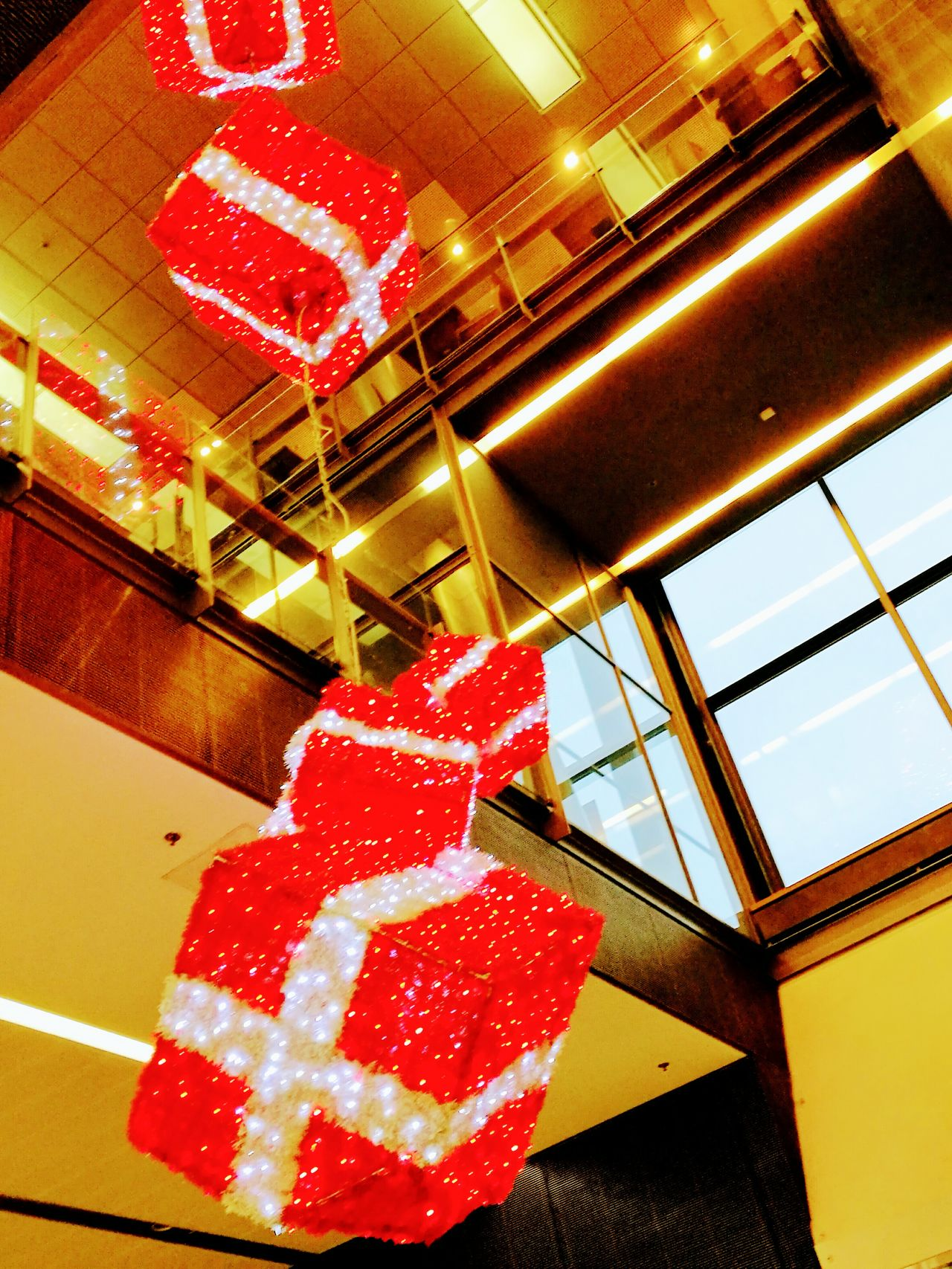 Day Indoors  Architecture Illuminated No People Red Christmas Lights Indoors  Finlandlovers Finlandiaa Finland_photolovers Finlandia Helsinki,finland Helsinki Kamppi Helsinki Central Railway Station
