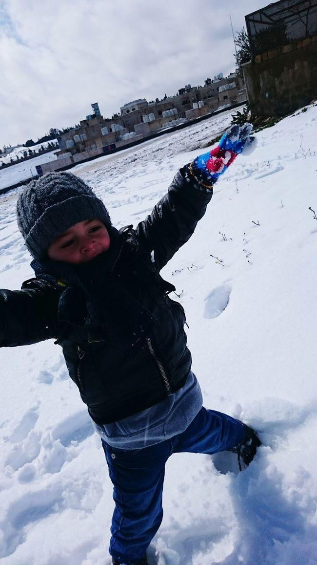 The Great Outdoors - 2015 EyeEm Awards People My Son Snow Day Hamdi