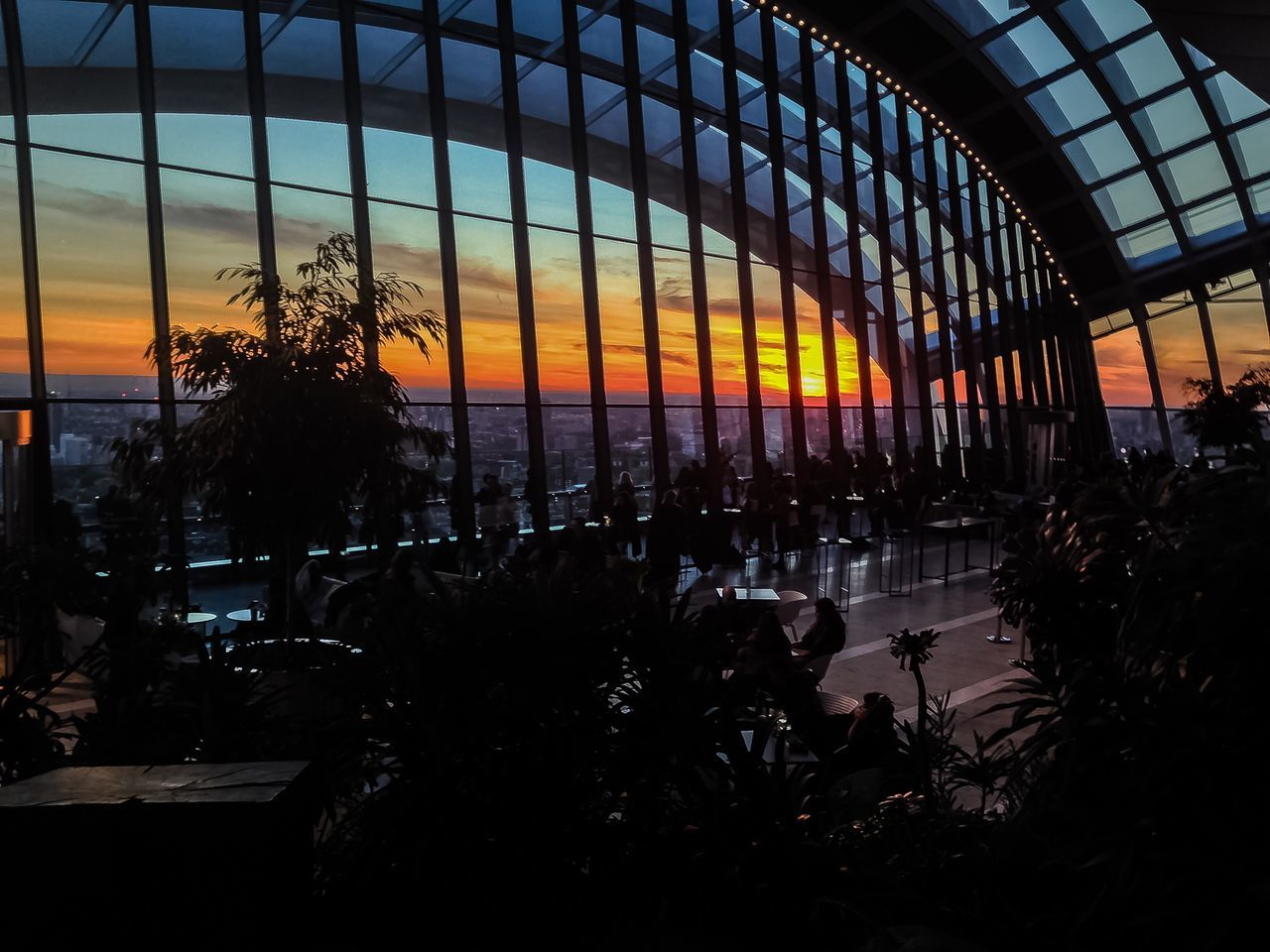 sunset, silhouette, no people, sky, architecture, built structure, nature, indoors, tree, plant, beauty in nature, water, city, day