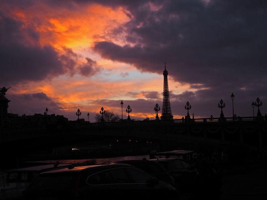 Paris Sunset Eiffel_tower  Eiffeltower Eiffel_tower