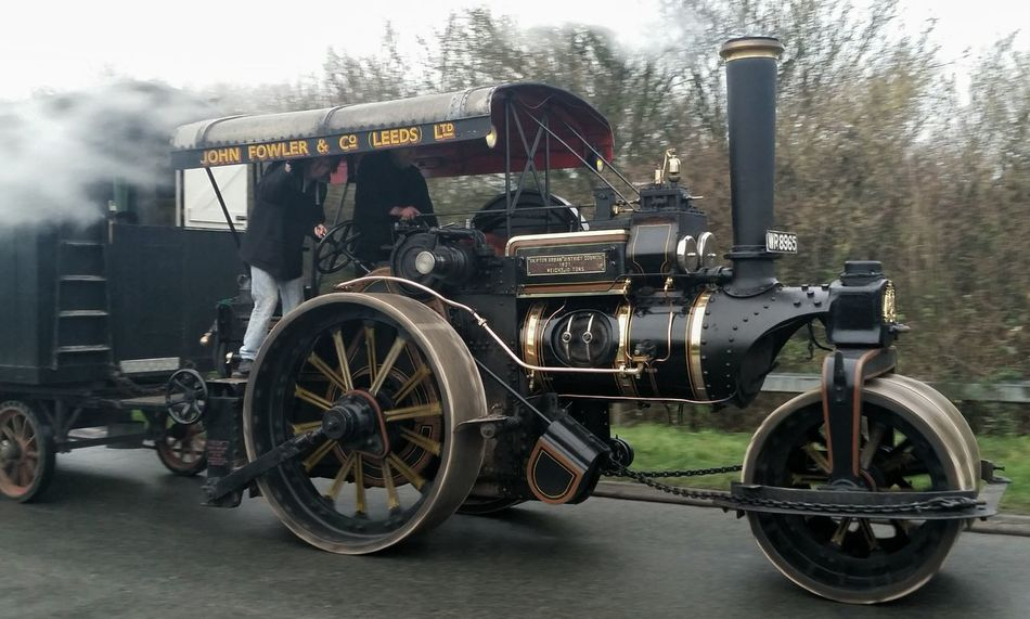 Tractionengine Steam Engine Taking Photos On The Road Dursley-Stroud A38 While I Was At Work