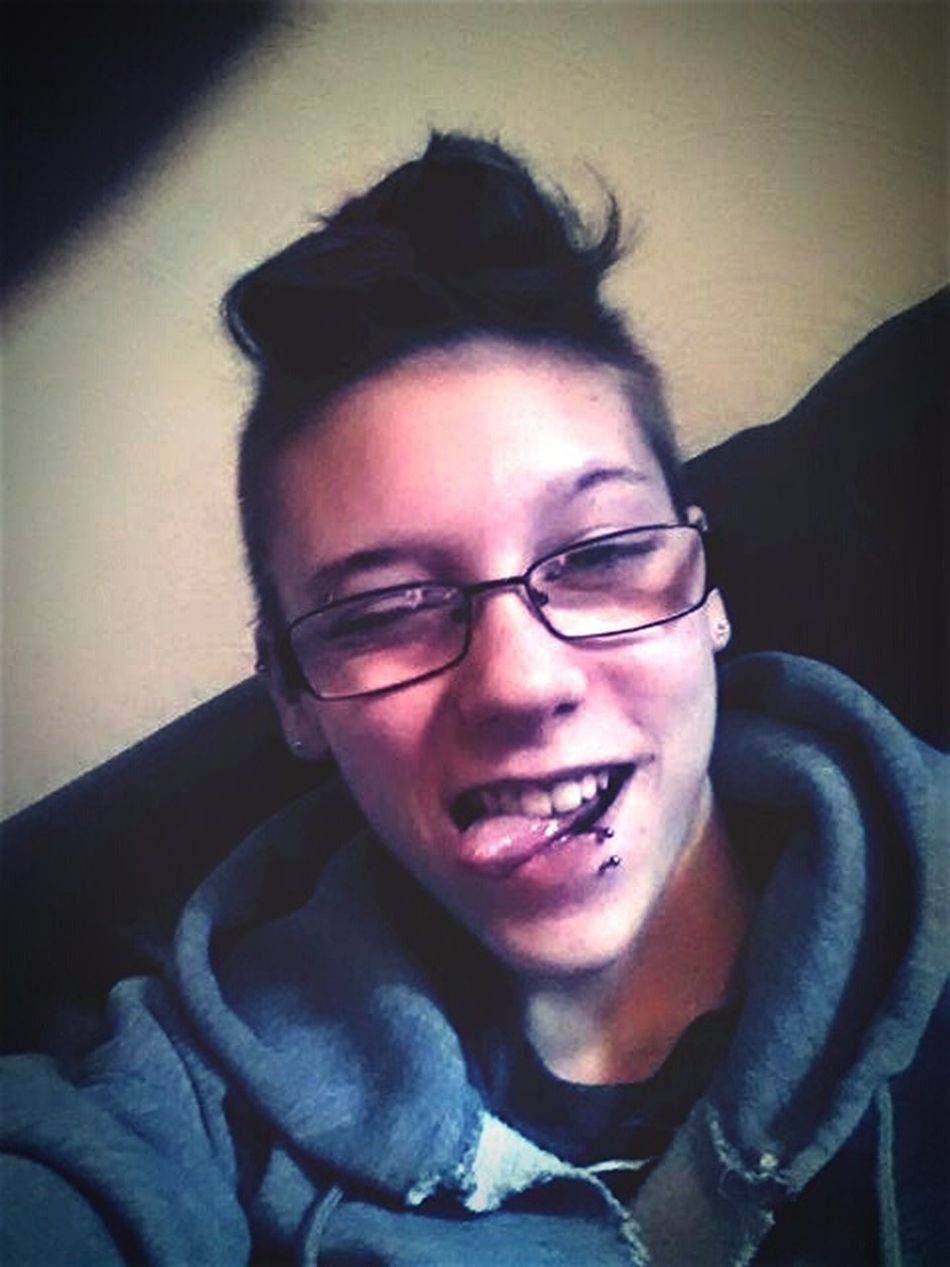 My Unique Style Girl. Piercings. Glasses. Hair.