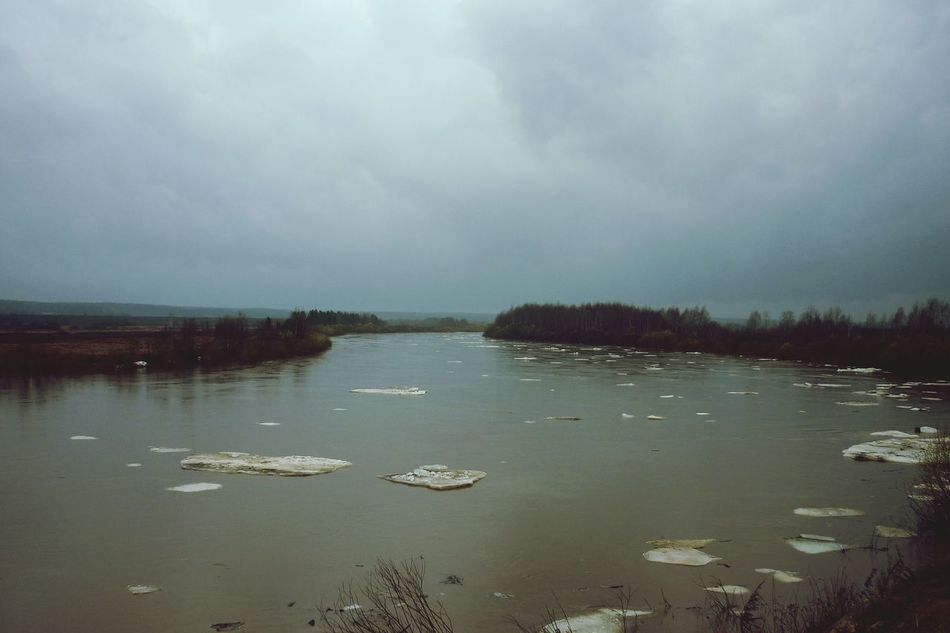 Russia Ural Sverdlovsk Region River And Sky River Debacle Nature Nature_collection Nature Photography Natural Scenery