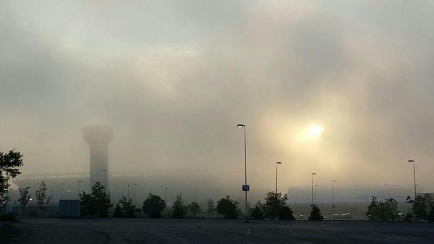 Fog lifting over Gillette Stadium this morning unlike Tom Brady's four game suspension S6 Foggy Morning New England Patriots EyeEm Foxborough, Massachusetts