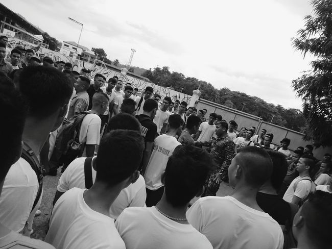 Aspiring . . Marines candidates. At KORONADAL CITY Large Group Of People Men Crowd Leisure Activity Outdoors Gathered Street Photography Streetfashion EyeEm Gallery EyeemPhilippines Xperia X Eyeemphotography SONYXPERIAX EyeEm Best Edits EyeEmBestPics EyeemPhotos Eyeemphoto Mobile Photography Monochrome Photography Xperiax Marines Candidates Exam Examinations
