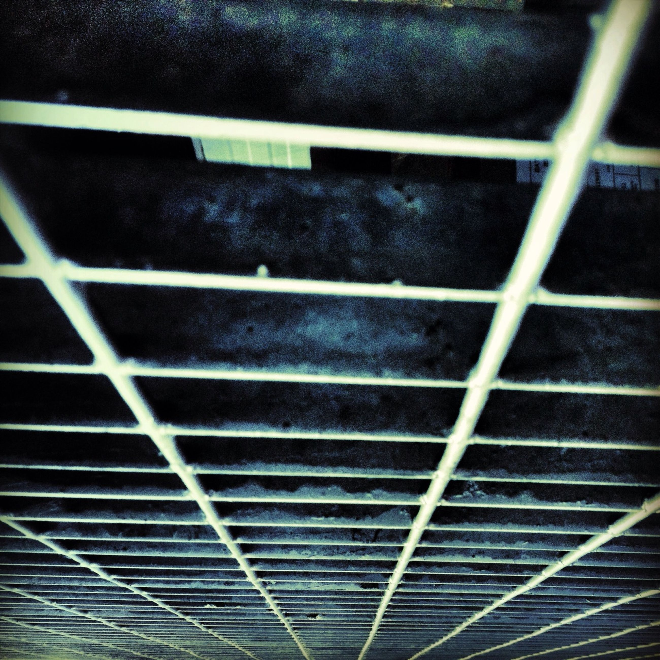 pattern, backgrounds, full frame, textured, repetition, metal, design, no people, abstract, built structure, low angle view, indoors, in a row, geometric shape, metallic, ceiling, close-up, shape, detail