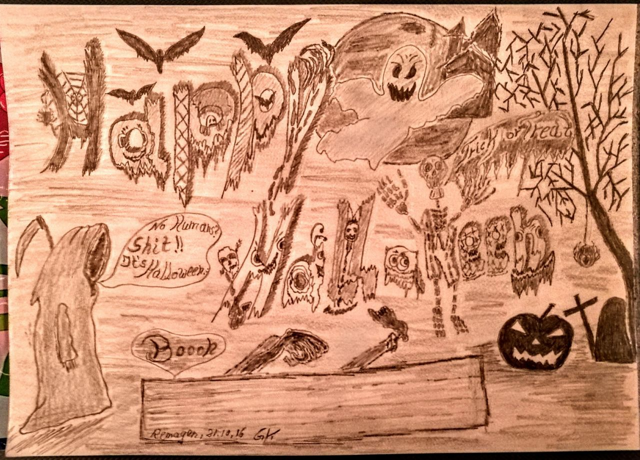 Happy Halloween...this is my drawing to Halloween time...enjoy... Check This Out Hello World Relaxing Enjoying Life My Drawing Creativity Art, Drawing, Creativity Originalpicture Individual Picture Pivotal Ideas Shadowandlight Halloween
