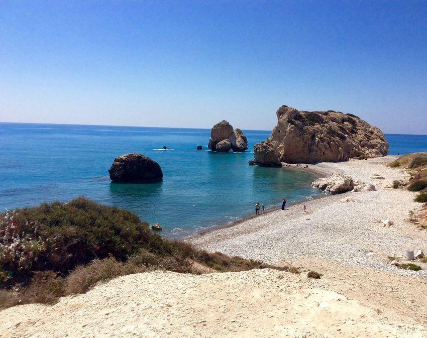 Aphrodites Rock Sea And Sky Pebble Beach Cyprus Limassol Travelling Travel Photography Seascape Aphrodite Greek Mythology The KIOMI Collection