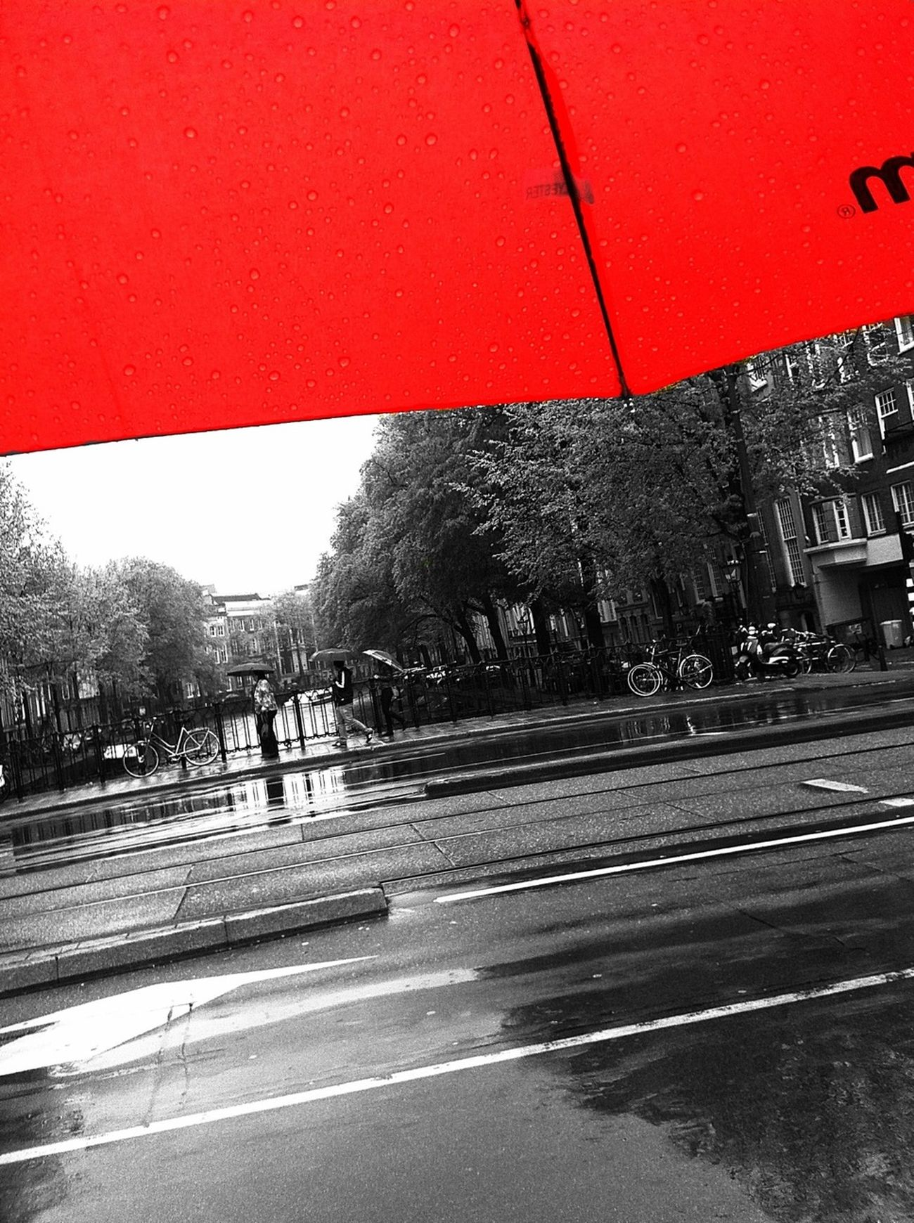 Reflection Streetphotography Red Urban Landscape