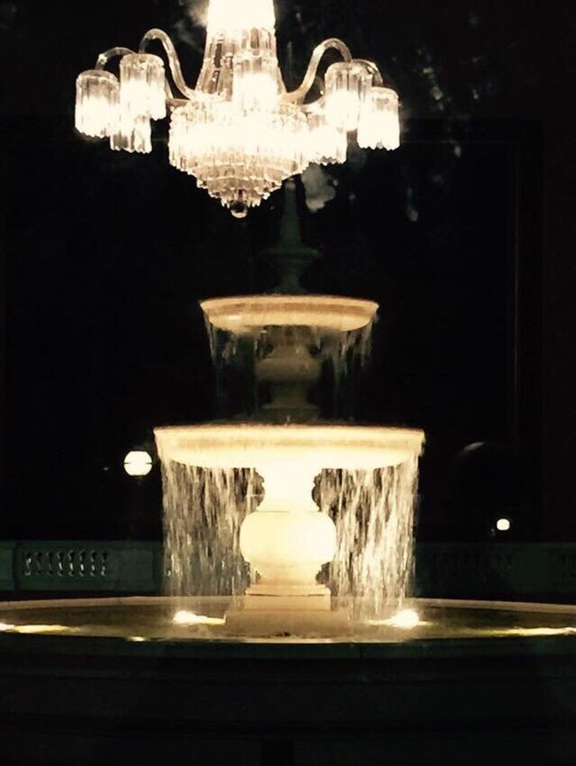 Water Fountain Chandlier Lights Awesome