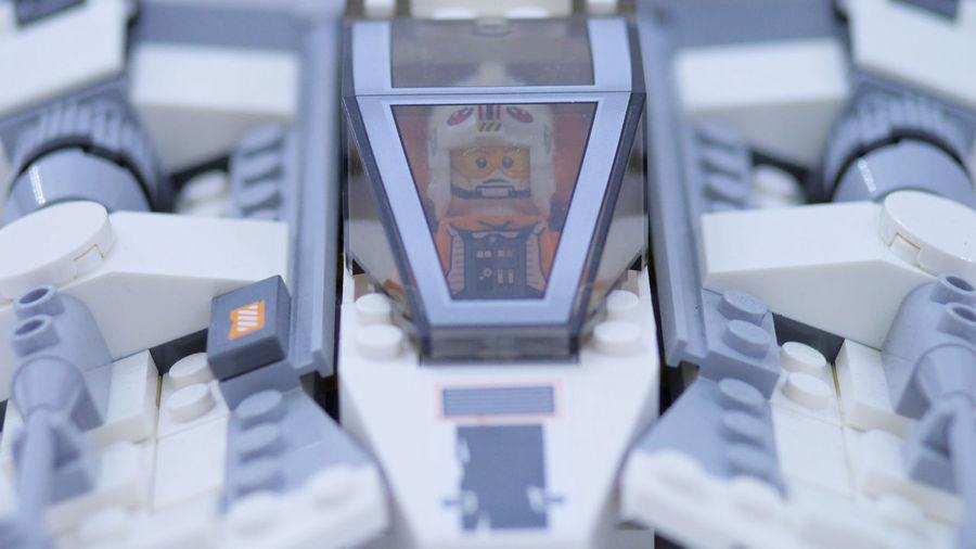 LEGO Luke Skywalker Snowspeeder Star Wars The Empire Strikes Back Close-up Hoth No People Snow